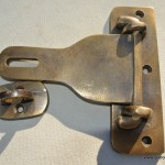"5"" Old latch vintage style house BOX antiques box for padlock catch hasp DOOR Key heavy"