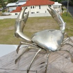"BIG MUD CRAB solid brass silver plated heavy decor stunning 10 "" hand made B"