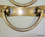 """2 heavy handle BOX pull solid brass heavy old vintage old style DOOR drawer 6"""" B"""