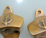 2 ship ANCHOR Bottle Opener brass COKE works AGED finish heavy