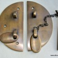 solid brass Old latch vintage style house catch antiques box chain bolt 3.1/2""
