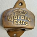 CORONA beer Bottle Opener brass COKE works AGED finish screws included heavy