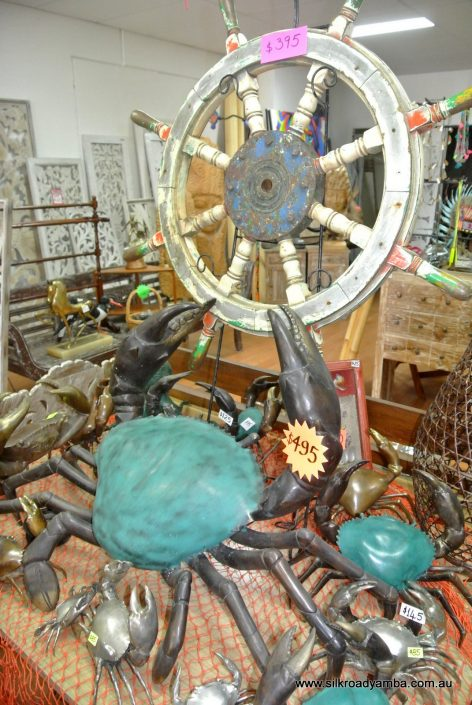 galleryOriginal ships wheel vintage old