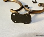 COAT hall HOOKS solid brass furniture antiques vintage age old style curly