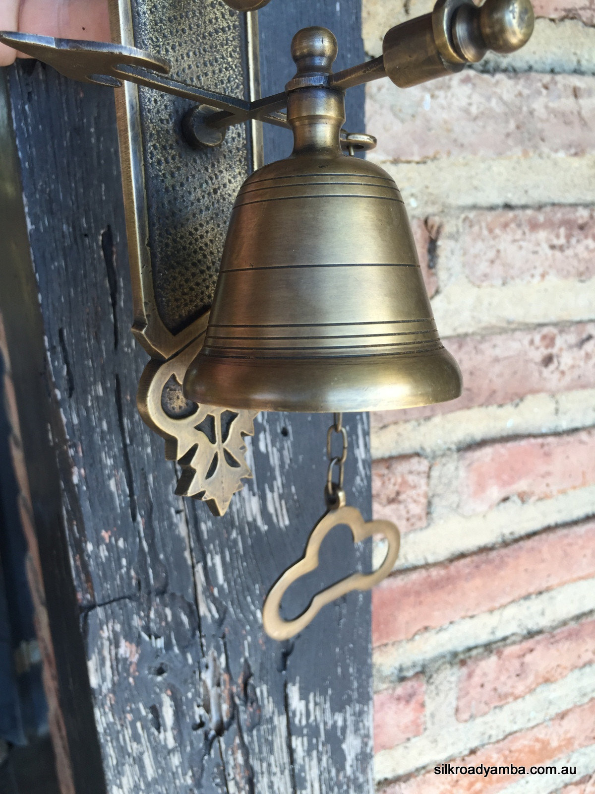 Bell Front Door Heavy Vintage Style 10 Size Antique Look Solid Brass Aged Chain Nice Sound Silk Road Yamba