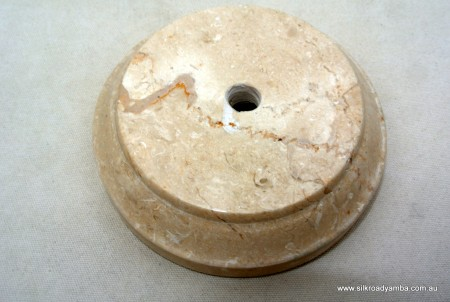 "small white original real marble base 3.1/2"" "" perfect for medium statues"