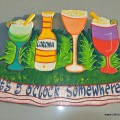 """ITS 5 O'CLOCK SOMEWHERE"" Display sign wood painted hand made"