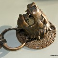 """heavy LION / TIGER head front Door Knocker 5. 1/2"""" SOLID BRASS antique style large"""