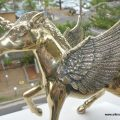 "Small 7 "" high PEGASUS BRASS heavy statue display vintage style wings horse unicorn"