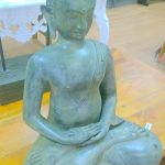 large sitting BUDDHA solid BRASS amazing hand made unique statue old vintage style