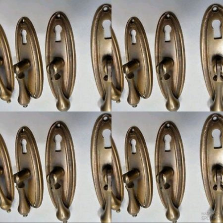 16 pulls drops handles antique style solid brass vintage old replace drawer small door heavy