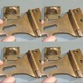 4 small Old latch vintage style house BOX antiques box for padlock catch hasp DOOR Key heavy 4""