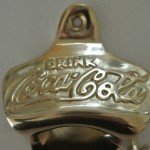 COCA COLA Bottle Opener brass COKE works POLISHED finish screws included heavy