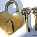 "used in shop display Padlock Vintage stye antique look solid heavy brass aged key lock works 2"" bronze patina"