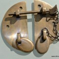 """Old latch vintage style house catch antiques box DOOR chain bolt heavy 115 mm 4.1/2"""""""