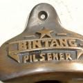 BINTANG beer Bottle Opener brass COKE works AGED finish screws included heavy