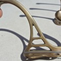 """4 COAT HOOKS solid brass old style 4"""" Deco hall stand"""