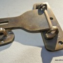 """5"""" Old latch vintage style house BOX antiques box for padlock catch hasp DOOR Key heavy"""