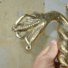DRAGON head WALKING STICK end handle only carved solid brass hand made amazing B