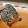 Toilet roll Holder vintage style old antique type CROWN brass heavy fixture B