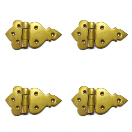 4 POLISHED small hinges vintage style solid Brass DOOR BOX watsonbrass 660 Stunning restoration heavy flush 3.1/2""