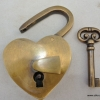 "used in shop display Padlock Vintage stye antique look solid heavy brass aged key lock works 2"" bronze patina"
