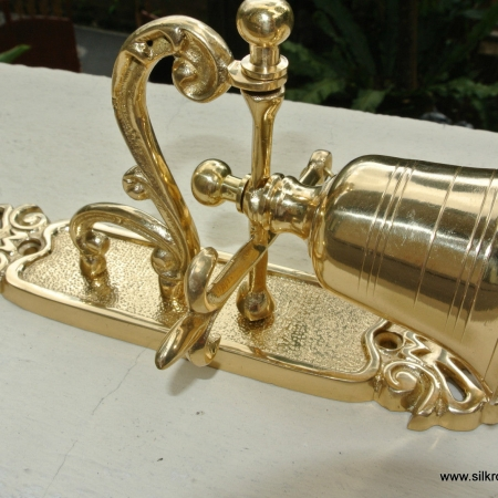 """Front Door Bell pull chain solid POLISHED brass vintageold style 8. 1/2 """" hang B"""
