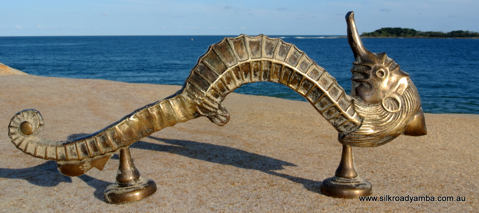 Large Seahorse Solid Brass Door Old Style Heavy House Pull