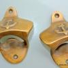 2 ship ANCHOR Bottle Opener brass COKE works AGED finish heavy