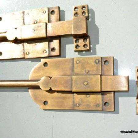 "2 BOLTS french doors furniture heavy slide solid brass flush slide 10"""