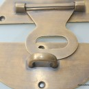 STUNNING large heavy HASP & STAPLE . Padlock and KEY included WORKS 5""