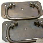 """BOX pulls handles antique style solid brass vintage old replace drawer door heavy 5"""""""