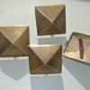 4 brass studs