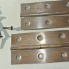 "2 small hinges vintage style solid Brass DOOR BOX 3"" restoration flush & screws"