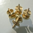 4 very small screw KNOBS pulls handles antique solid heavy brass drawer knob 18 mm