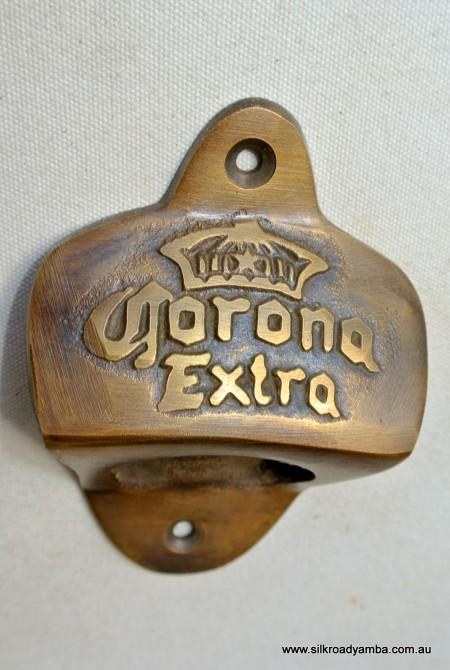 CORONA beer Bottle Opener brass COKE works AGED finish screws included heavy