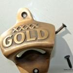 XXXX Gold beer Bottle Opener solid brass works screws heavy
