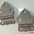 2 small OFFSET hinges vintage aged style solid Brass DOOR heavy