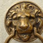 small LION head solid BRASS hand made DOOR KNOCKER 160 mm heavy