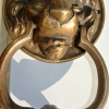 small LION head solid BRASS hand made DOOR KNOCKER 160 mm heavy