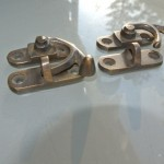 2 Nice 40mm tiny small box Latch catch solid brass furniture antiques doors trinket