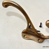 "COAT HOOKS solid brass old style 4"" Deco hall stand vintage style heavy"