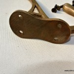"""COAT HOOKS solid brass old style 4"""" Deco hall stand vintage style heavy"""