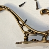 """COAT HOOKS Victorian heavy solid brass vintage old style 5"""""""