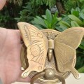 Solid Brass heavy BUTTERFLY Door Knocker 15 cm high 12 cm wide bolt pull