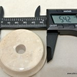 """tiny white original real marble base 53 mm 2 """" perfect for small statues"""