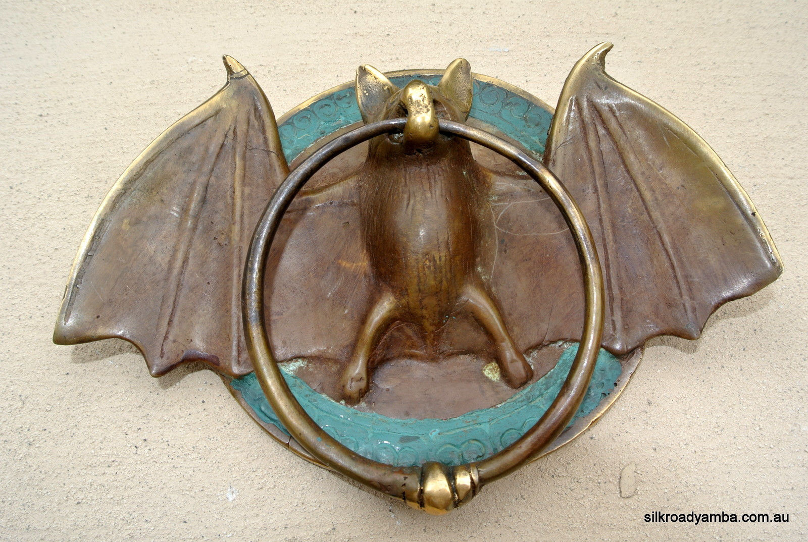 Solid Brass Small Heavy Bat Door Knocker 7 Unusual Wings