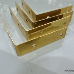 4 small BOX CORNERS or table edge polished
