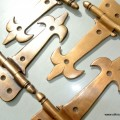 """4 small hinges vintage age style solid Brass DOOR restoration heavy 5"""""""
