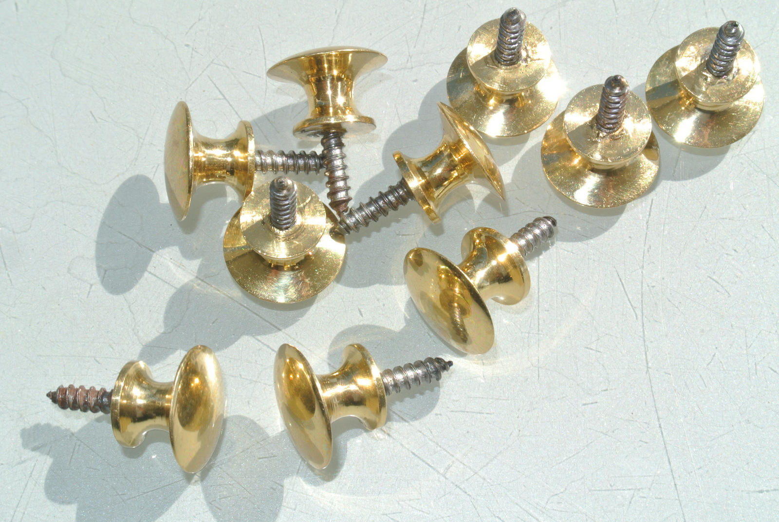 10 very tiny screw knobs pulls handles antique solid heavy for Small door knobs and handles